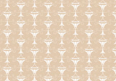 Seamless pattern earth tone brown vintage vector abstract background Royalty Free Stock Images