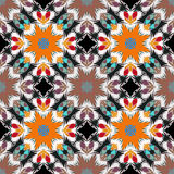 Seamless pattern. East ornament with colorful details background Royalty Free Stock Image
