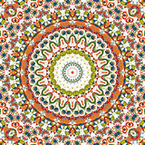 Seamless pattern. East ornament with colorful details background Royalty Free Stock Images