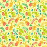 Seamless pattern of Easter bunnies Stock Images