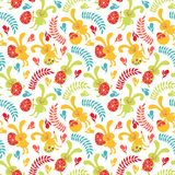 Seamless pattern of Easter bunnies Stock Photography