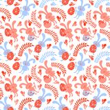 Seamless pattern of Easter bunnies Royalty Free Stock Images