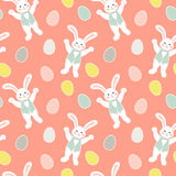 Seamless pattern Easter bunny. Seamless pattern for children. Easter bunny Stock Photos