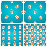 Seamless pattern with easter bunny Stock Photos