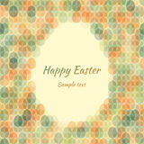 Seamless pattern Easter card with space for text. Vector illustration Stock Images