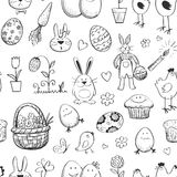 Seamless pattern Easter collection. Hand drawn Royalty Free Stock Image