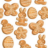 Seamless pattern of Easter cookies Stock Image