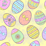 Seamless pattern with easter eggs. Vector illustration of seamless pattern with easter eggs stock illustration