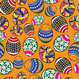 Seamless pattern easter eggs Stock Photo