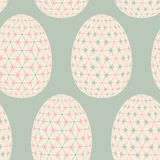 Seamless pattern with easter eggs. Royalty Free Stock Image