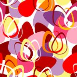 Seamless pattern with Easter eggs Stock Photos