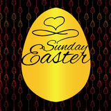 Seamless pattern with Easter eggs on black background. Hand draw Royalty Free Stock Photos