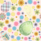 Seamless pattern Easter eggs Royalty Free Stock Image
