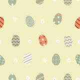 Seamless pattern with easter eggs Stock Photography