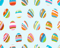 Seamless pattern with easter eggs.  + EPS8. Vector file Stock Illustration