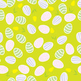 Seamless pattern of Easter eggs Stock Images