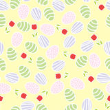 Seamless pattern of Easter eggs Stock Photography