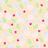 Seamless pattern of Easter eggs Stock Photo