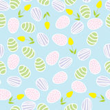 Seamless pattern of Easter eggs Royalty Free Stock Photos