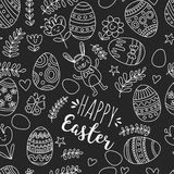 Seamless pattern for Easter Eggs, flowers, bunny Happy easter pattern. Pattern for Easter Eggs, flowers, bunny Happy easter pattern Royalty Free Stock Image