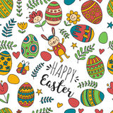 Seamless pattern for Easter Eggs, flowers, bunny Happy easter pattern. Pattern for Easter Eggs, flowers, bunny Happy easter pattern Royalty Free Stock Photography