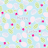 Seamless pattern of Easter eggs Royalty Free Stock Photo