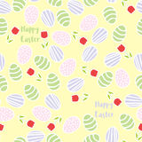 Seamless pattern of Easter eggs Royalty Free Stock Images