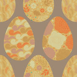 Seamless pattern with Easter eggs, royalty free illustration