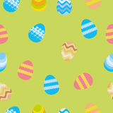 Seamless pattern with easter eggs Stock Images