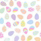 Seamless pattern with easter eggs stock illustration