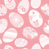 Seamless pattern of Easter eggs on red background Stock Images