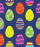 Seamless pattern with easter eggs. Vector art background,print or illustration Stock Photo