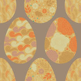 Seamless pattern with Easter eggs, vector stock illustration