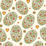 Seamless pattern with easter eggs Stock Image