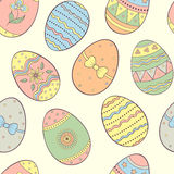 Seamless pattern with easter eggs. Vector illustration of seamless pattern with easter eggs Stock Photo