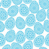 Seamless pattern with easter eggs. Vector illustration of seamless pattern with easter eggs royalty free illustration