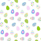 Seamless pattern with easter eggs, Vector illustration Stock Images