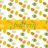 Seamless pattern with Easter eggs. Vector illustration. vector illustration