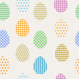 Seamless pattern easter eggs Stock Images