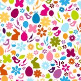 Seamless pattern. Easter elements Stock Photos