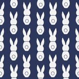 Seamless pattern Easter greeting with bunnies Royalty Free Stock Images