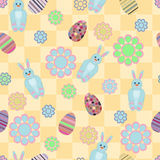 Seamless pattern with Easter motives Royalty Free Stock Photos