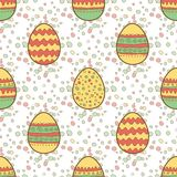 Seamless pattern with Easter painted eggs Royalty Free Stock Images