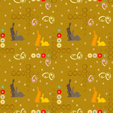 Seamless pattern with Easter rabbits Stock Image