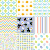 Seamless pattern easter set Stock Photo