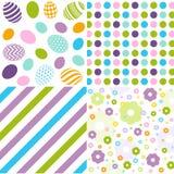 Seamless pattern easter set Royalty Free Stock Photo