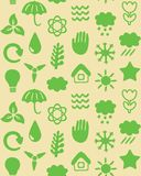 Seamless pattern with eco icons Stock Photo