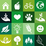 Seamless pattern with ecology signs Stock Photography