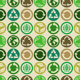 Seamless pattern with ecology signs Royalty Free Stock Photography