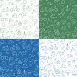 Seamless pattern with Ecotourism design elements Stock Images